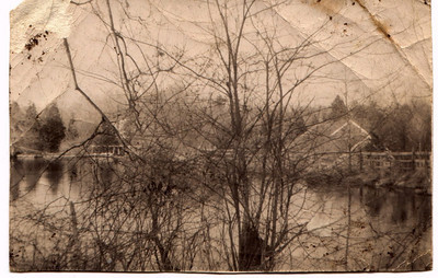 Mill pond and Allen's Mill in the 1960s.  Photo by Brian Rowbotham.