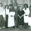 Second from left: Leila Wollman; Center: Dr. Joshua Smith, Trustee Helenmae Hannah, ? , Paulette Eichenhold