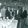 Webster Trammell, Dr. Peter F. Burnham, Alumni Association president Joan Brearly, Gershom G.N. Tomlinson, ?