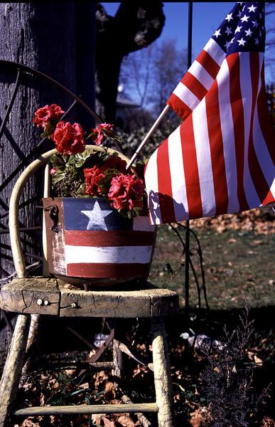 Flag Flowerpot