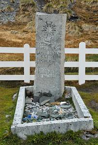 Shackleton's Grave, Whaler's Cemetery, Grytviken