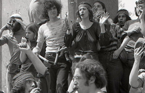 Kazoo band. Anti-war demonstration, Washington DC, May 9, 1970.