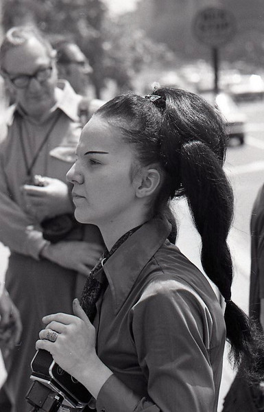 Filmmaker up close. Anti-war demonstration, Washington DC, May 9, 1970.