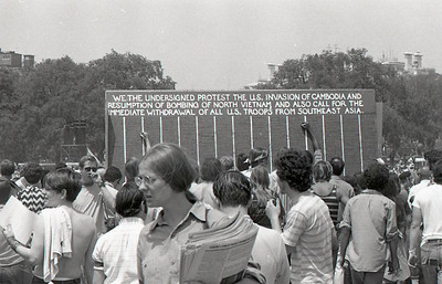 Petition for peace. Anti-war demonstration, Washington DC, May 9, 1970.