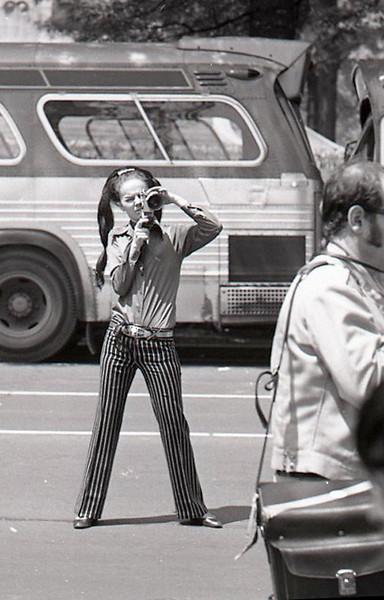 Filmmaker. Anti-war demonstration, Washington DC, May 9, 1970.
