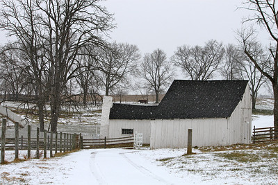 February 9, 2013. Joseph Poffenberger Farm, Antietam Battlefield, Sharpsburg, MD. This farm is so picturesque, it is beautiful from all angles.