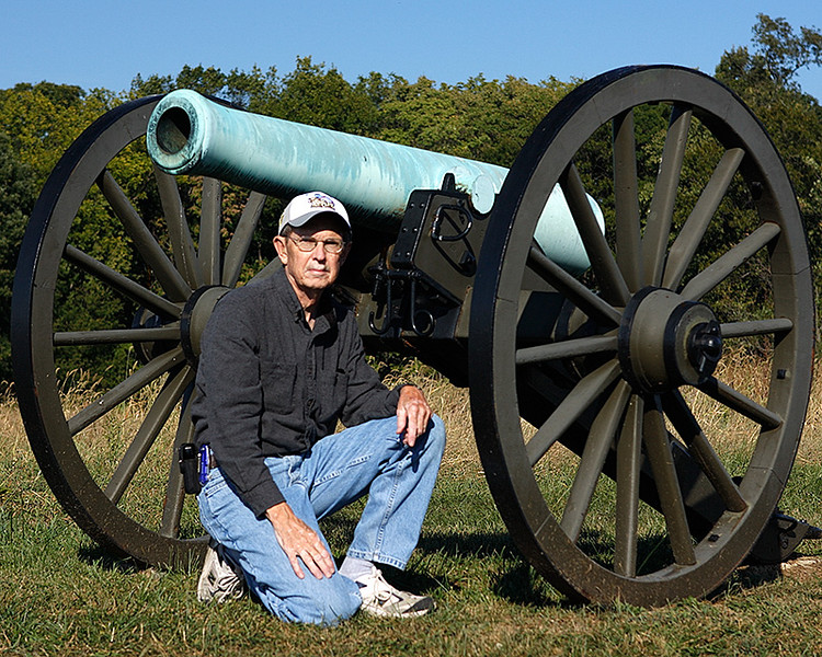 Self Portrait in front of one of the many canons at the park. Love the ones with the brass barrels.