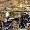 Inside Hagood Saddle Shop and leather works.  This is set up as a functional business at this time!