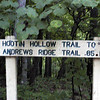 One of the hiking trails at Norris Dam State Park. We camped within sight of this trailhead.