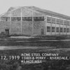 ACME STEEL - RIVERDALE, IL - 1919<br /> Just opening for business