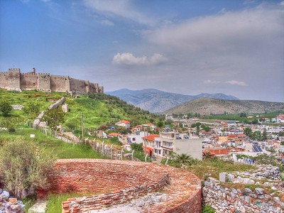 Ottoman fortress above the town of Seljuk, turkey.  Near the ancient city of  Ephesus