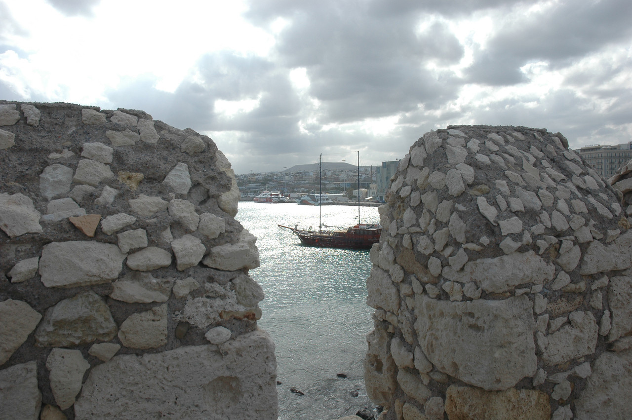Looking out from the ramparts of the Venetian Fortress.