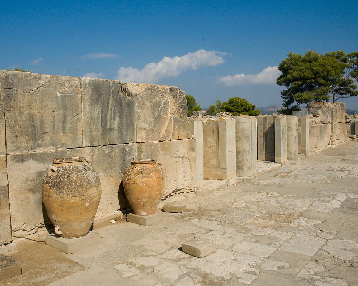 Pithoi at Phaestos, Island of  crete