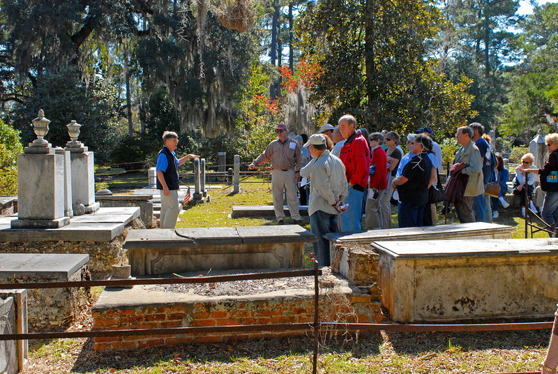 Thomas Spalding's Ashantilly near Darien, Georgia during the Darien Festival on 11/08/08 with Buddy Sullivan as Guest Speaker at the house and at St. Andrews Cemetery - Forground Graves in Thoma Spalding's plot are Brailsford family members