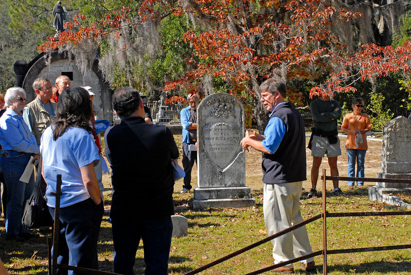 Thomas Spalding's Ashantilly near Darien, Georgia during the Darien Festival on 11/08/08 with Buddy Sullivan as Guest Speaker at the house and at St. Andrews Cemetery