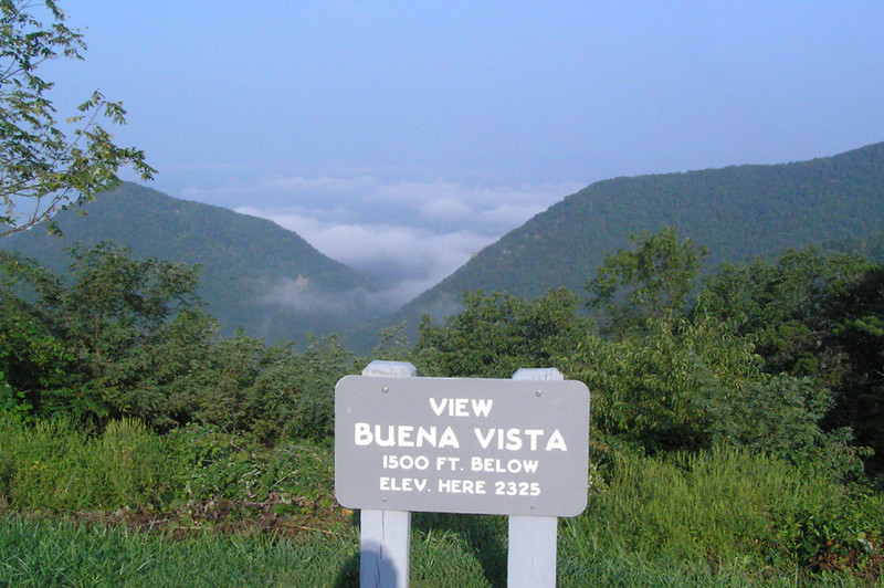 At Buena Vista Overlook on Blue Ridge Parkway