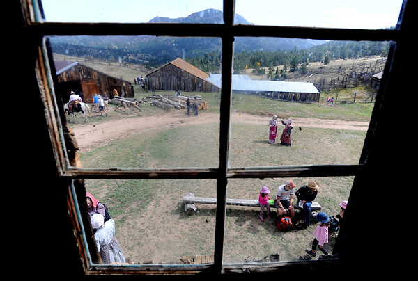 """Walker Ranch in Boulder County is alive with people during Autumn Heritage Day.<br /> Walker Ranch celebrated Autumn with a demonstration of life in the 1880's and a vintage baseball game on Sunday.<br /> For more photos and a video of Walker Ranch, go to  <a href=""""http://www.dailycamera.com"""">http://www.dailycamera.com</a>.<br /> Cliff Grassmick  / September 30, 2012"""