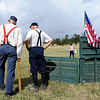 "Tiny Tim Heine, left, and Eddie Evans, wait for the vintage baseball game to begin.<br /> Walker Ranch celebrated Autumn with a demonstration of life in the 1880's and a vintage baseball game on Sunday.<br /> For more photos and a video of Walker Ranch, go to  <a href=""http://www.dailycamera.com"">http://www.dailycamera.com</a>.<br /> Cliff Grassmick  / September 30, 2012"