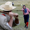 "Ivory Churchill pitches to Eric Cohen during the Walker Ranch Vintage baseball game.<br /> Walker Ranch celebrated Autumn with a demonstration of life in the 1880's and a vintage baseball game on Sunday.<br /> For more photos and a video of Walker Ranch, go to  <a href=""http://www.dailycamera.com"">http://www.dailycamera.com</a>.<br /> Cliff Grassmick  / September 30, 2012"