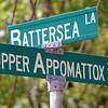 It is located on the edge of the Appomattox River. The Appomattox joins the James River a few miles away and both flow into the Chesapeake Bay.