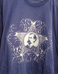 Wyatt Earp T-Shirt, Size L, $15.99, limited quantity, call to order