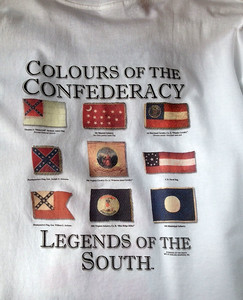 Flags of the Confederacy T-Shirt. This is the back of the shirt. Size XL, This is new, but has been washed - on sale $12.99, This is the only XL, but I have a few other sizes in limited quantities.