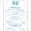 BRGS Speech Day 21st November 1973 001