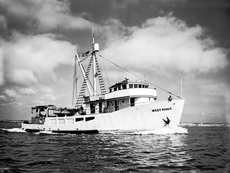 West Point,Built 1946 Puget Sound Boatbuilding Tacoma,Carl Hanken,Later Converted Seining  By Harbor Boat and Yacht Co of San Diego,1975 Sank Santa Maria Bay Mexico,