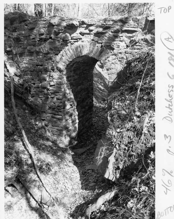 . Old stone spillway at Bard on April 13, 1986.