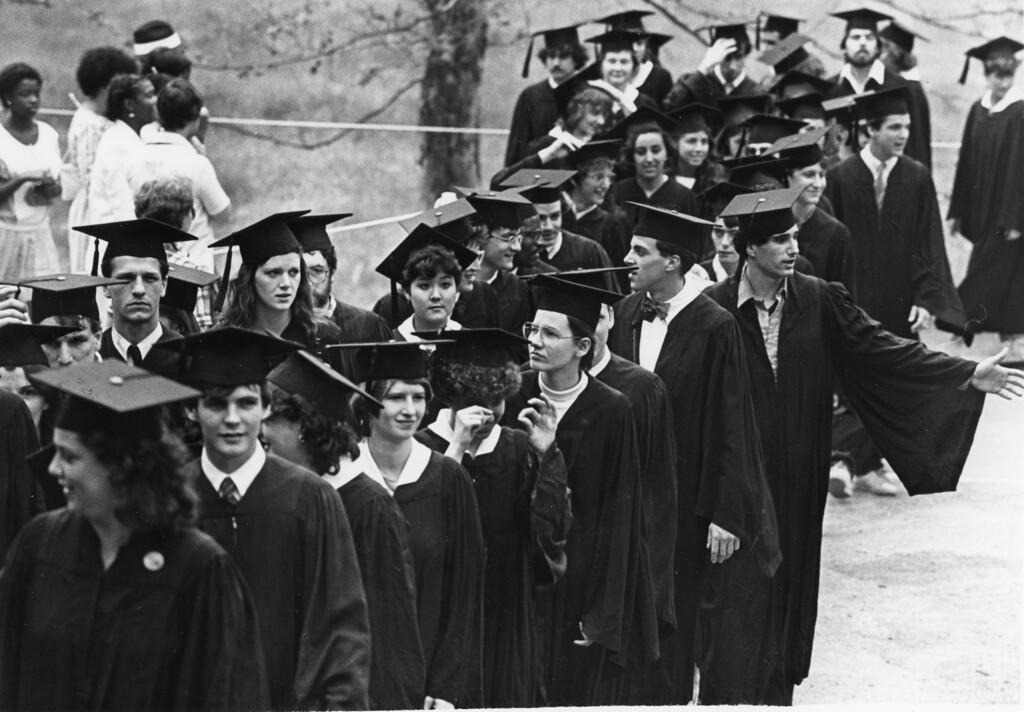 . Bard College graduates, May 26, 1984.
