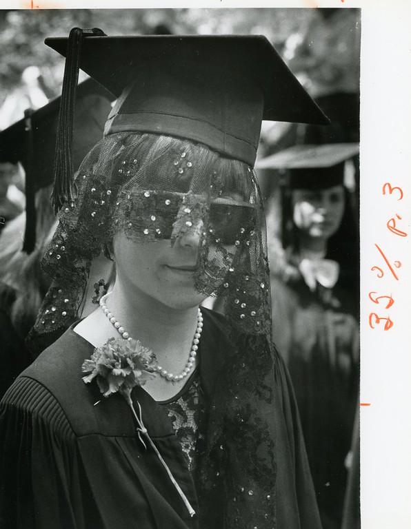 . Jina Caruso, May 29, 1983. Bard College graduation.