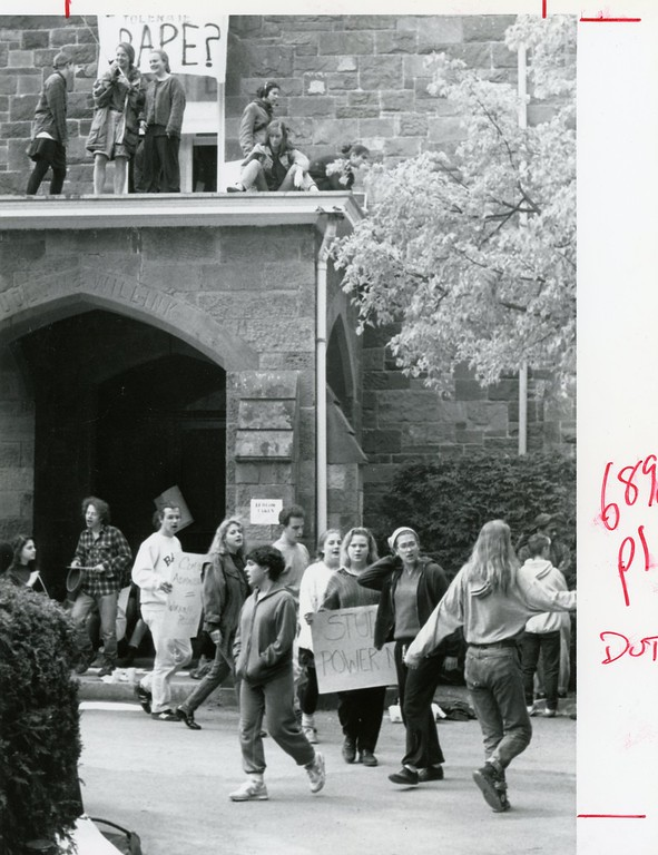 . A protest on campus on May 9, 1991.