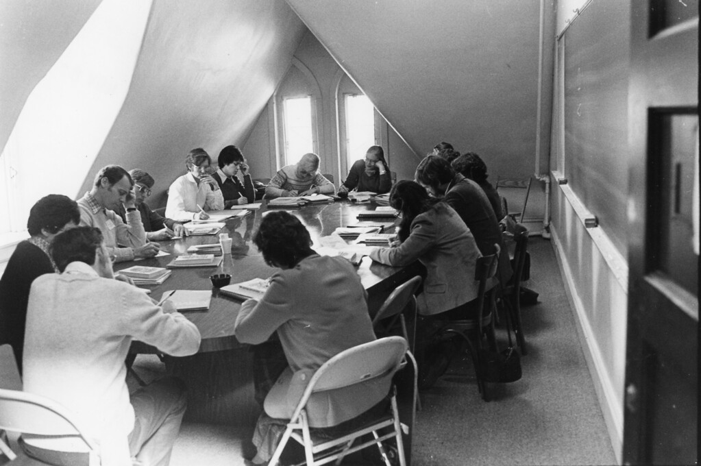 . Teachers as students at Bard College on Nov. 8, 1982.