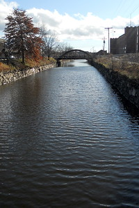 Canal that runs outside of the mills in Lewiston