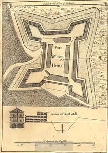 Fort William Henry c.1765; Plan & Elevation