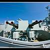 Anti Aircraft Guns on USS Massachusetts at Battleship Cove