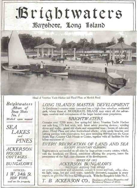 Brightwaters, Bungalows from $2,500, 1912