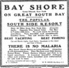 """The popular south-side resort...there is no malaria"", April 1904 <i>(NYT classified ad, April 12, 1904, pg. 14)</i>"