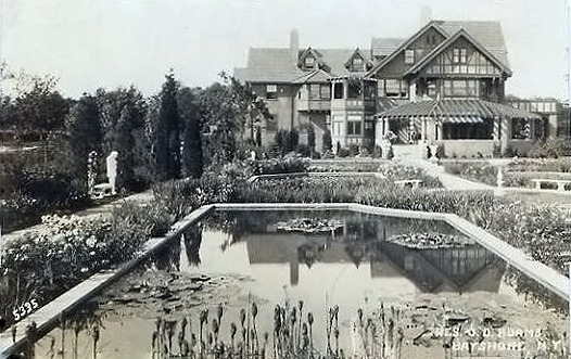 """""""Woodlea"""", home of John Dunbar Adams, one of the sons of the founder of the Adams Chewing gum company (later Chicle), 1912"""