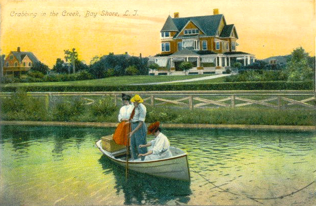 Crabbing in the creek, 1907.