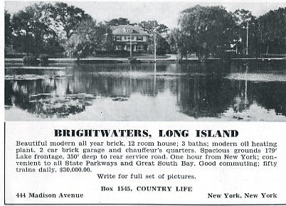 Brightwaters, 12-room house, $30,000, 1936