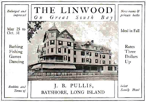 Advertisement for The Linwood, 1912