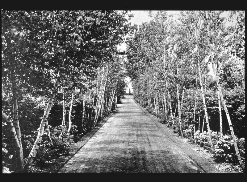 Landon K. Thorne estate gardens, 1929