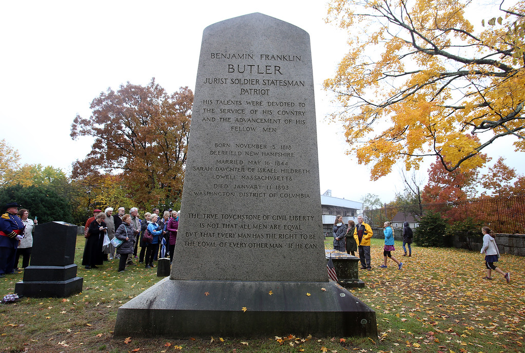 . Hildreth Cemetery holds its annual opening of the private cemetery. This year, they unveiled the sculpture by Bela Lyons Pratt, recently restored, on the grave of  Benjamin Butler.  (SUN/Julia Malakie)