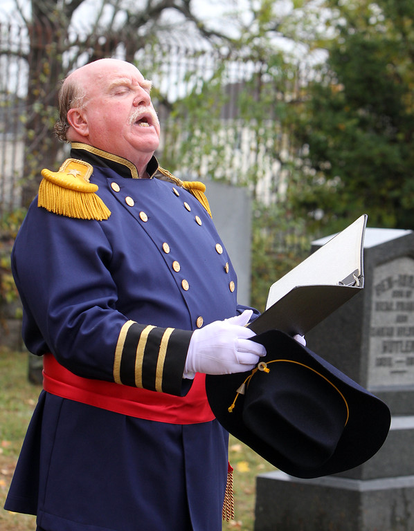 . Hildreth Cemetery holds its annual opening of the private family cemetery where Benjamin Butler (who married into the family) is buried. Richard Scott portrays Ben Butler.  (SUN/Julia Malakie)