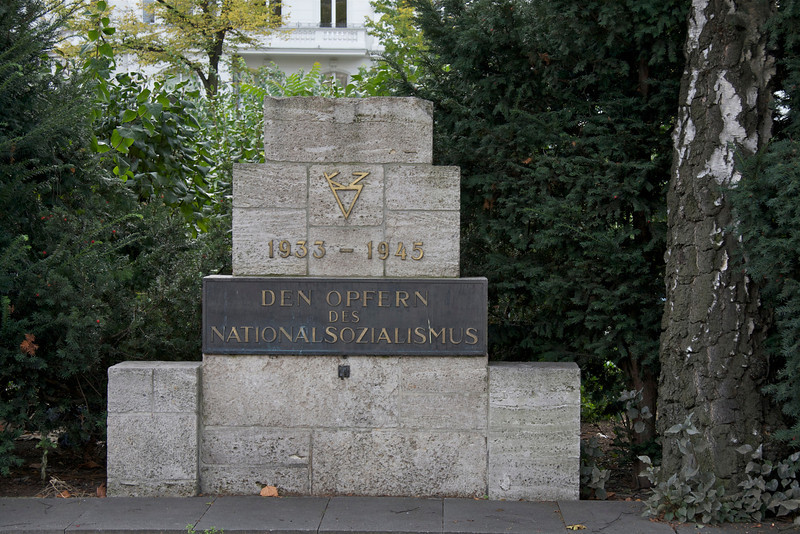 "Streetside memorial: ""To the victims of National Socialism,"" Berlin, 2012"