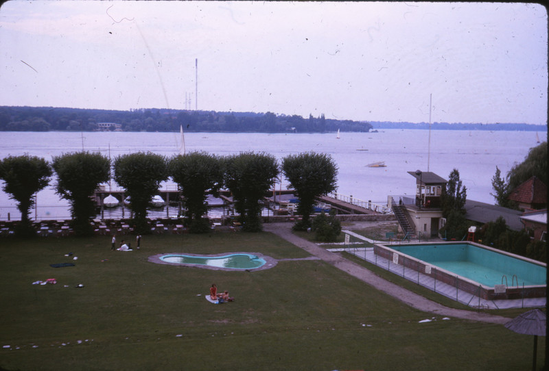 U.S. military recreation area on the Wannsee, 1964