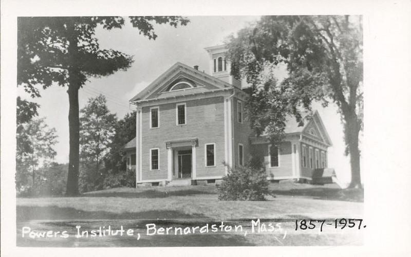 Bernardston Powers Institute 1857-1957 RPPC