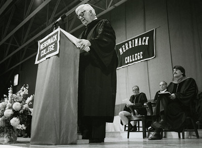 "The Honorable Thomas ""Tip"" O'Neill, Speaker of the U. S. House of Representatives, Honorary Degree recipient and speaker at Commencement, 1982."