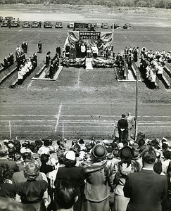 Building Fund Drive, Lawrence Stadium, early 1950s.